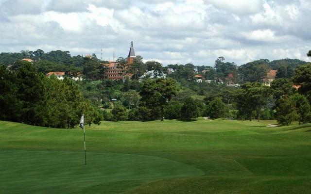 Destination of big golf tournament