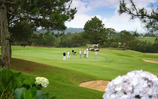 Golf course is usually crowded at weekend