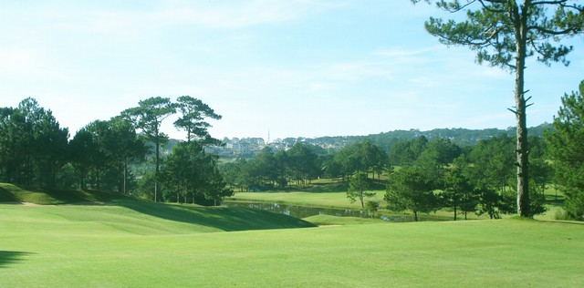 The golf course at noon