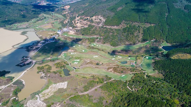 The golf map of Dalat 1200 Golf Course